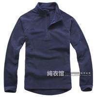 Ultra-light 2013 thermal polar fleece fabric male sweatshirt solid color outdoor jacket liner fleece navy blue