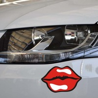Free shipping New style Sexy lips car sticker decoration accessories for skoda and so on