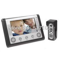 "free shipping 2013 NEW video door phone access control intercom   7"" TFT LCD color video door bell"