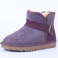 new 2013 5855 short snow boots purple phoeni print boots side buckle summer