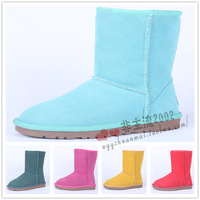 new 2013 Knee-high snow boots 5825 pink boots genuine leather snow boots cow muscle slip-resistant outsole thermal boots male