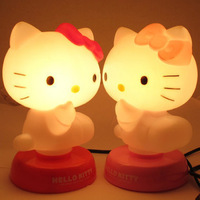 NEW Novelty Kids Baby Room Hello Kitty Night Sleeping Light Lamp Christmas Gift Free Shipping