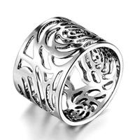 Cameleers cutout camellia ring female ka259