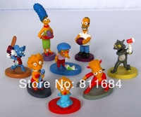 The Simpson Homer Family 2-4cm Mini Figure Toy Set of 8pcs Cute