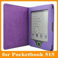 Colorful folio leather cover case for pocketbook 515 free shipping 1pcs