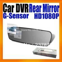 "Car DVR Camera 2.7"" Rearview Mirror Camcorder Full HD 1080P Black Box Video Recorder Super Slim Design Built in G-Sensor"