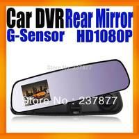 "Rearview Mirror Car Camera DVR Car black box 2.7""Display Camcorder Full HD1080P Video Recorder Super Slim Design G-Sensor"