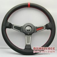 HOT !14 inches Sparco Leather Steering Wheel, racing car steering wheel Aluminum alloy, EK1703