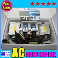 F5 55W fast brightness hid kit H1 H3 H7 H8 H9 H11 9005 9006 xenon hid kit 0.1second quick starting