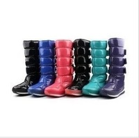7 Color Original Rubber duck Snow Boots Thickened Patent Leather Women's Waterproof Slip-resistant Space Boots