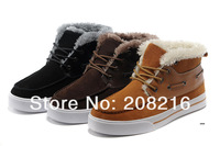 Free ship,2013 Brand Men's winter warm sneakers,nubuck leather snow boots,cotton-padded sports shoes,black,brown,chestnut,40-44