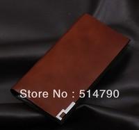 Hot Saling 2013 Popular Genuine Calf Leather Men's Brown Business Wallet long bi-fold Wallet/Purse(12 card slots),free shipping