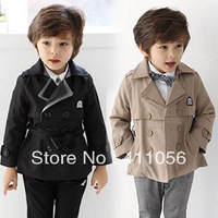 2013 autumn and winter preppy style boys clothing baby child trench outerwear wt-1171