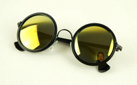 Hot selling Free shipping Fashion popular Vintage round box metal sunglasses fashion star sunglasses 8286 12  10pcs/lot