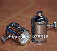 Free shpping Edison chandelier bulb bases Galvanization  creative restaurant lights retro copper knopLamp Bases E27