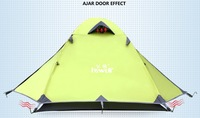 Free Shipping Double Layer Mountaineer Canopy High Quality Aviation Aluminum Hiking Tent  Portable Family Outdoor Camping Gazebo
