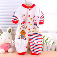 Wholesale&Free shipping Cotton Brand little swan baby  bodysuit, climb clothes, rompers, 5color,wear in spring  and  autumn