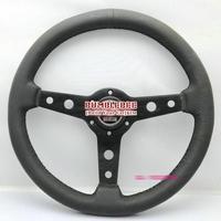 HOT !14 inches Sparco Leather Steering Wheel, racing car steering wheel Aluminum alloy, EK1646