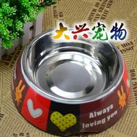Free shipping Senior pet bowl stainless steel multicolour melamine bowl set dog bowl saidsgroupsdirector bowl