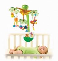 Christmas Promotion Sweet Island Dreams Newbron Baby Mobile Rotating Music Bed Hanging Bell Crib Animal Plush Rattles Toys 0-12