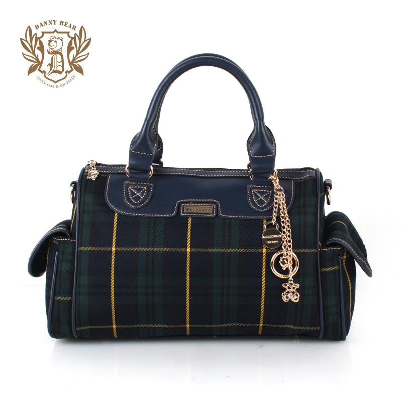 Danny bear DANNY BEAR series block plaid handbag messenger bag db(China (Mainland))