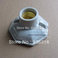 (5pcs/lot) Free shipping Vintage light bulb ceramic table lamp wall lamp base ceiling light e27 retro lamp