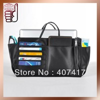 Free Shipping Wholesale Retail New Design Hot-sale High Quality Travel Handbag Organizer Bags in Bag with Slots