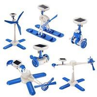 Free Post 6 in 1 Solar Kit Education Robotics Solar Powered Robot  Interesting Enlighten -Blue