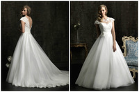 Hot sale Modern organza laceWedding dress