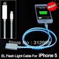 Floating LED Lighting Cable EL Luminous USB Charger Sync Flash Cable For iP5