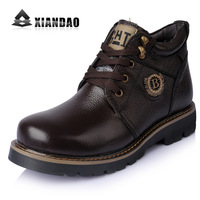 Cross-country winter cotton-padded shoes male thermal cotton boots snow fashionable casual genuine leather male boots 8168