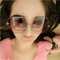 2013 vintage sunglasses sun glasses male female oversized circle sunglasses fashion prince mirror