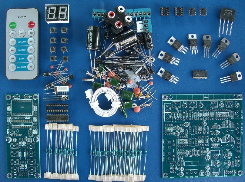 Frete Grátis! 1pc 2.1 kit TDA2030A placa amplificadora (partes) de programação de controle remoto BTL DIY subwoofer(China (Mainland))
