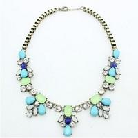 Min Order $15(Can Mix Item)New Fashion Jewelry Acrylic Statement Bib Necklaces Choker Necklace