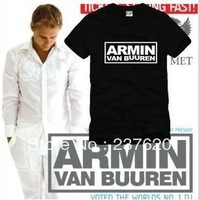Free shipping 2013 new sale Armin Van Buuren letter printed t shirt music DJ t shirt 100% cotton short sleeve t shirt 6 color