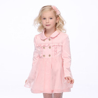 Followme children's clothing 2013 female child autumn trench child trench princess baby outerwear skirt