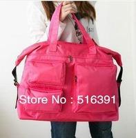 New korea style 18inch large capacity women travel bag waterproof Nylon duffel bag Multi fashion shoulder bag  free shipping