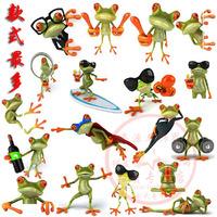 20pcs mix Gekkonidae car sticker personalized cartoon frog sticker ultra-thin waterproof three-dimensional decoration applique