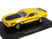 Kyosho alloy car models ford mustang mach 1 yellow sports car boxed
