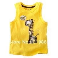wholesales kids vest boys giraffe Camisoles white jumping beans tank (18m-5T) 5pcs/lot