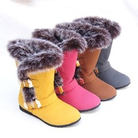 free shipping Caterpillar thermal child snow boots male female child slip-resistant waterproof thickening winter knee-high boots