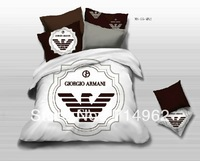 New Beautiful 4PC 100% Cotton Comforter Duvet Doona Cover Sets FULL / QUEEN / KING SIZE bedding set 4pcs white black arman i