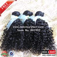 Mike & Mary Malaysian Virgin Hair Kinky Curly 4pcs/lot Alibaba Express Top Quality Unprocessed Human Virgin Hair Natural 1b
