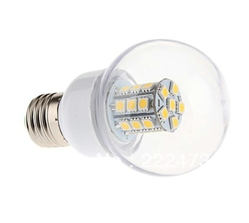DAIWL 1pcs/set  A19 A60 5W E27 27-LEDS SMD5050 350-400LM White/ Warm White Light LED Corn Bulb 110-120V  220V 240V