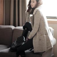 2013  free shipping hot selling winter Woolen jacket coat female new Korean ladies woolen slim warm coat 366
