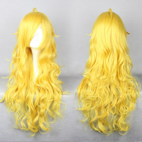 Free shipping 80CM Long RWBY Yang Xiao Long Yellow Cosplay Wig