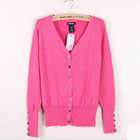 New Autumn&Winter basic shell button short design long-sleeve sweater cardigan basic knitted sweater