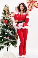 Fashion 2013 Christmas top belt trousers piece set 7200