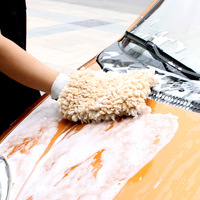 Car gloves car wash supplies foam car wash gloves paint cleaning gloves