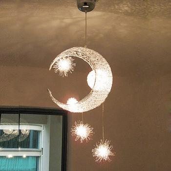 Modern brief moon light aluminum light pendant light living room lights restaurant lamp table lamp 359